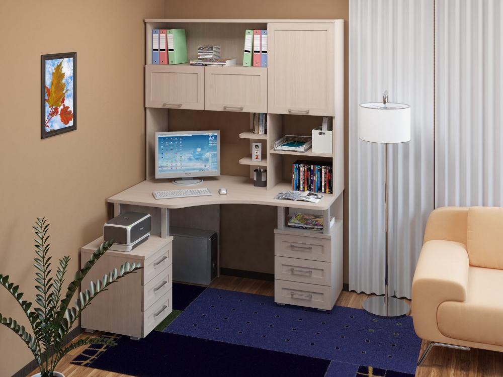 угловой компьютерный стол в дизайне интерьера ооо стройэнерго